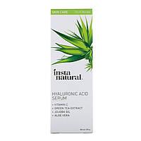 Сыворотка с гиалуроновой кислотой и витамином C, 60 мл, InstaNatural