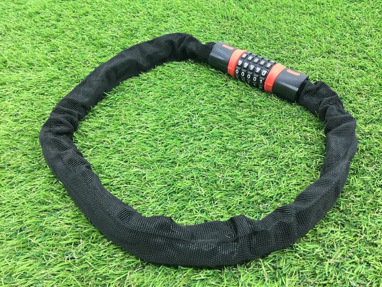 Велозамок цепь в чехле ключ-код