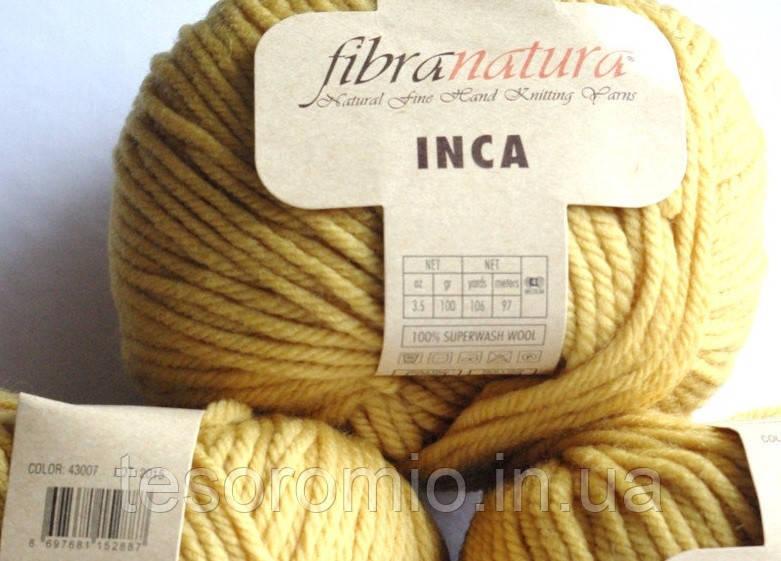 Пряжа INCA FIBRANATURA. Цвет желтый.
