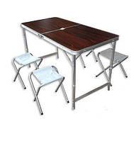 Стол для пикника со стульями Folding table, красный