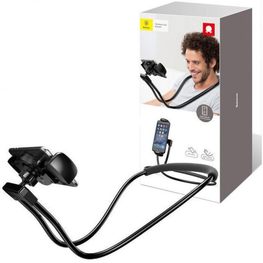 Универсальный гибкий держатель для телефона на шею Baseus Necklace Lazy Bracket