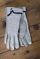 Женские стрейчевые перчатки серые, фото 1