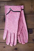 Женские стрейчевые перчатки розовые, фото 1