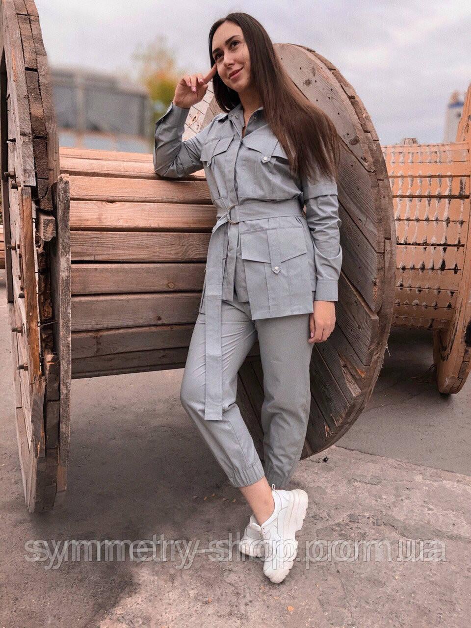 1005 костюм серый, фото 1
