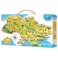 300109 Пазл Карта Украины 28*28*7см