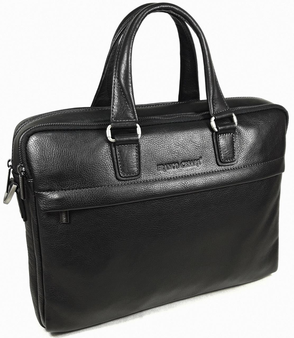 Портфель деловой кожаный черный FC-0118-L1 бренда FRANCO CESARE