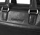 Портфель деловой кожаный черный FC-0118-L1 бренда FRANCO CESARE, фото 3