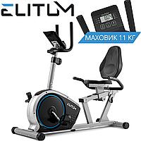 Горизонтальный велотренажер Elitum LX350 Silver
