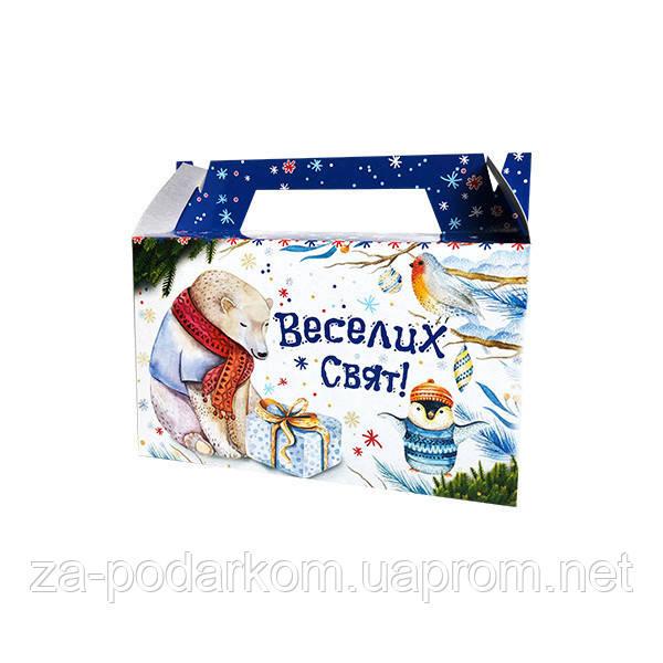"""Упаковка новорічна """"Міні-Саквояж Зимовий"""" для солодощів до 400 г"""