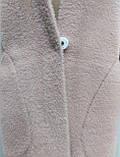 Кофта Полупальто женское из альпаки  с капюшоном, пудра, фото 3