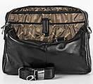 Портфель деловой кожаный черный FC-0118-L1 бренда FRANCO CESARE, фото 4