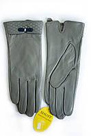 Женские кожаные перчатки Серые Большие WP-16103s3, фото 1