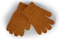 Вязаные перчатки Корона Детские  5002S-6 терракотовые, фото 1