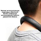 Держатель для телефона на шею Baseus Necklace Lazy Bracket. Универсальный гибкий держатель для гаджетов, фото 5