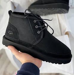 Мужские зимние ботинки UGG Australia Neumel Black черные. Живое фото. Люкс реплика