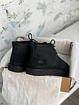 Мужские зимние ботинки UGG Australia Neumel Black черные. Живое фото. Люкс реплика, фото 2