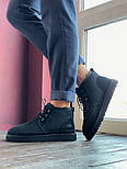 Мужские зимние ботинки UGG Australia Neumel Black черные. Живое фото. Люкс реплика, фото 4