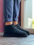 Мужские зимние ботинки UGG Australia Neumel Black черные. Живое фото. Люкс реплика, фото 5