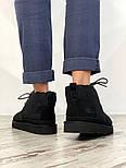 Мужские зимние ботинки UGG Australia Neumel Black черные. Живое фото. Люкс реплика, фото 6