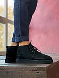 Мужские зимние ботинки UGG Australia Neumel Black черные. Живое фото. Люкс реплика, фото 9