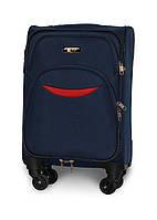Мини чемодан 54х35х22 Ручная кладь на 4 колесах Fly 1708 Темно-синий