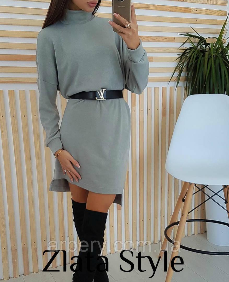 Женское стильное ангоровое платье