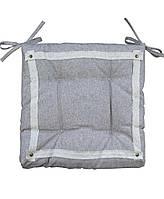 Подушка на стул хлопок Прованс 40х40см ''HYGGE'' Marron (коричнева)