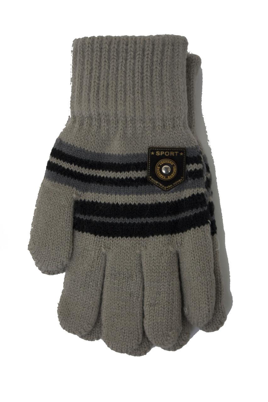 Трикотажные перчатки Корона детск. вязаные S5670-4 серый