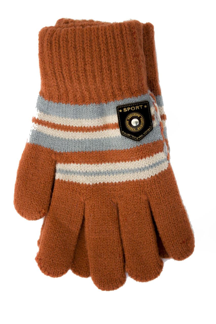 Трикотажные перчатки Корона детск. вязаные S5670-5 терракот