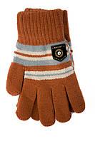 Трикотажные перчатки Корона детск. вязаные S5670-5 терракот, фото 1