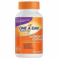 Мультивитамины и минералы для женщин One-A-Day, Bayer, 250 таблеток