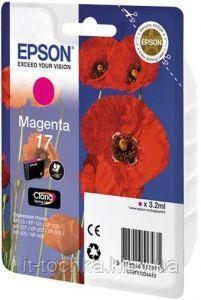 Пурпуровий картридж epson 17 (c13t17034a10) magenta