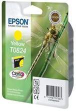 Желтый картридж epson t0824 (c13t11244a10) yellow