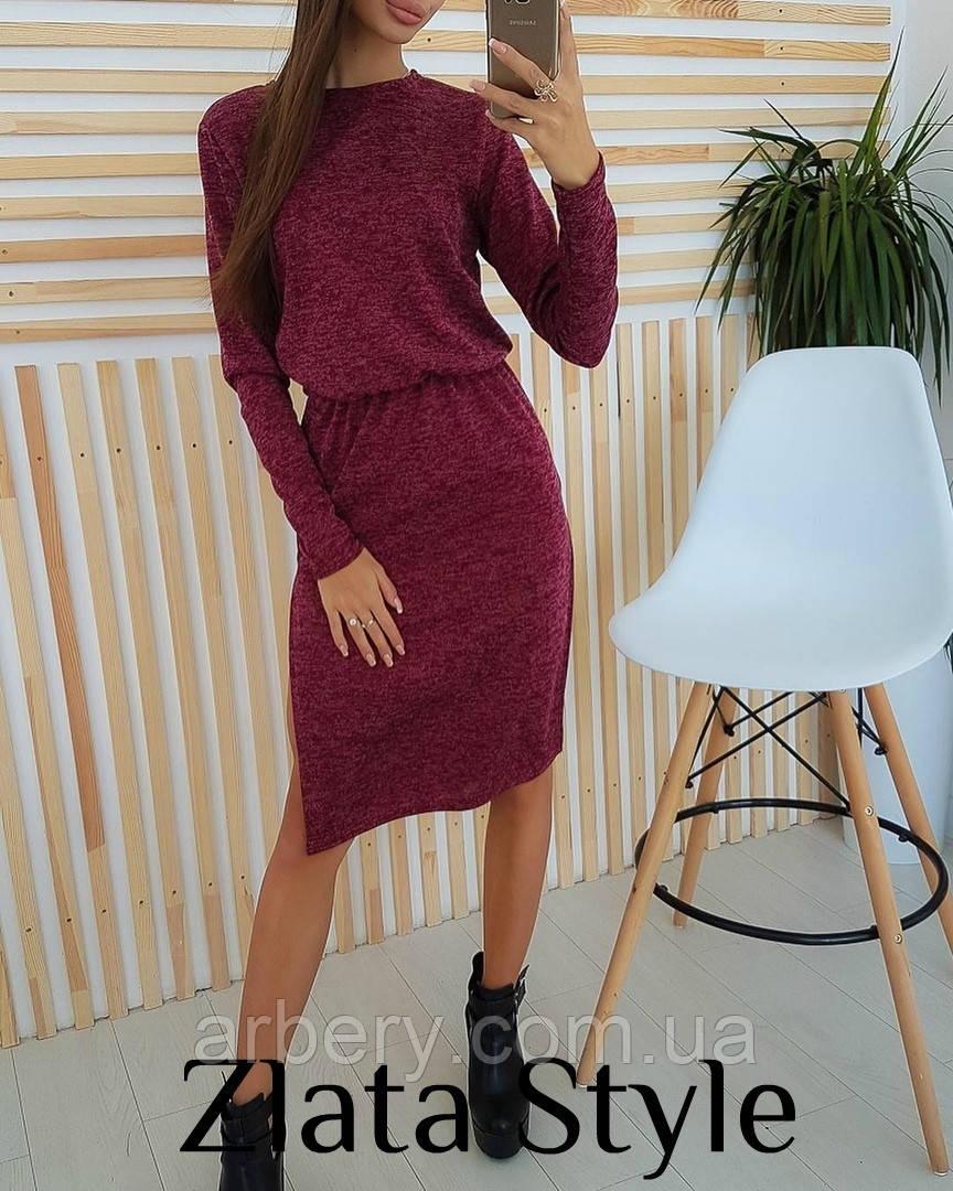Женское ангоровое платье с резинкой