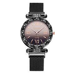 """Жіночі наручні годинники на магнітній застібці """"Yolako"""" (чорний)"""