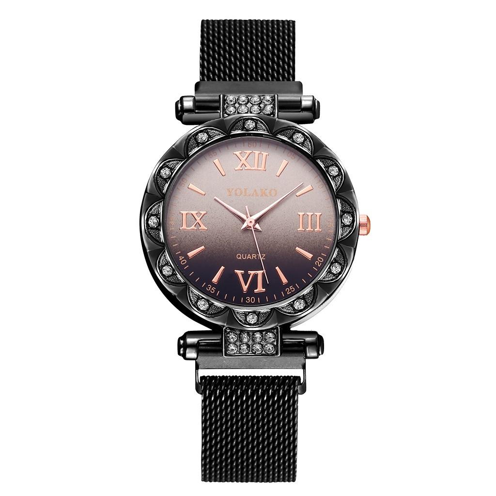 """Женские наручные часы на магнитной застежке """"Yolako"""" (черный)"""