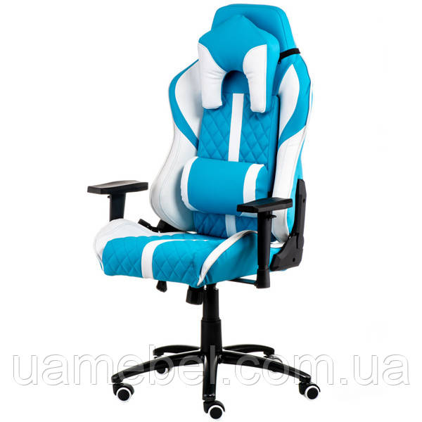 Кресло геймерское ExtremeRace light blue/white E6064