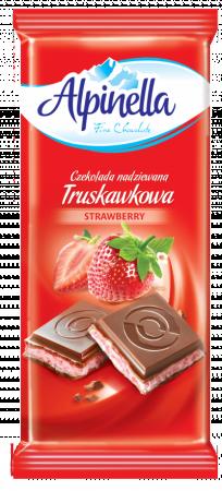 Шоколад Alpinella  з полуничною начинкою, 100г,22шт/ящ