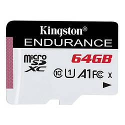 Карта памяті Kingston MicroSDXC 64 GB class 10 UHS-I A1 Endurance + SD adapter SDCE/64GB