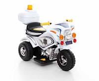 Детский электромобиль,мотоцикл Police,белый,
