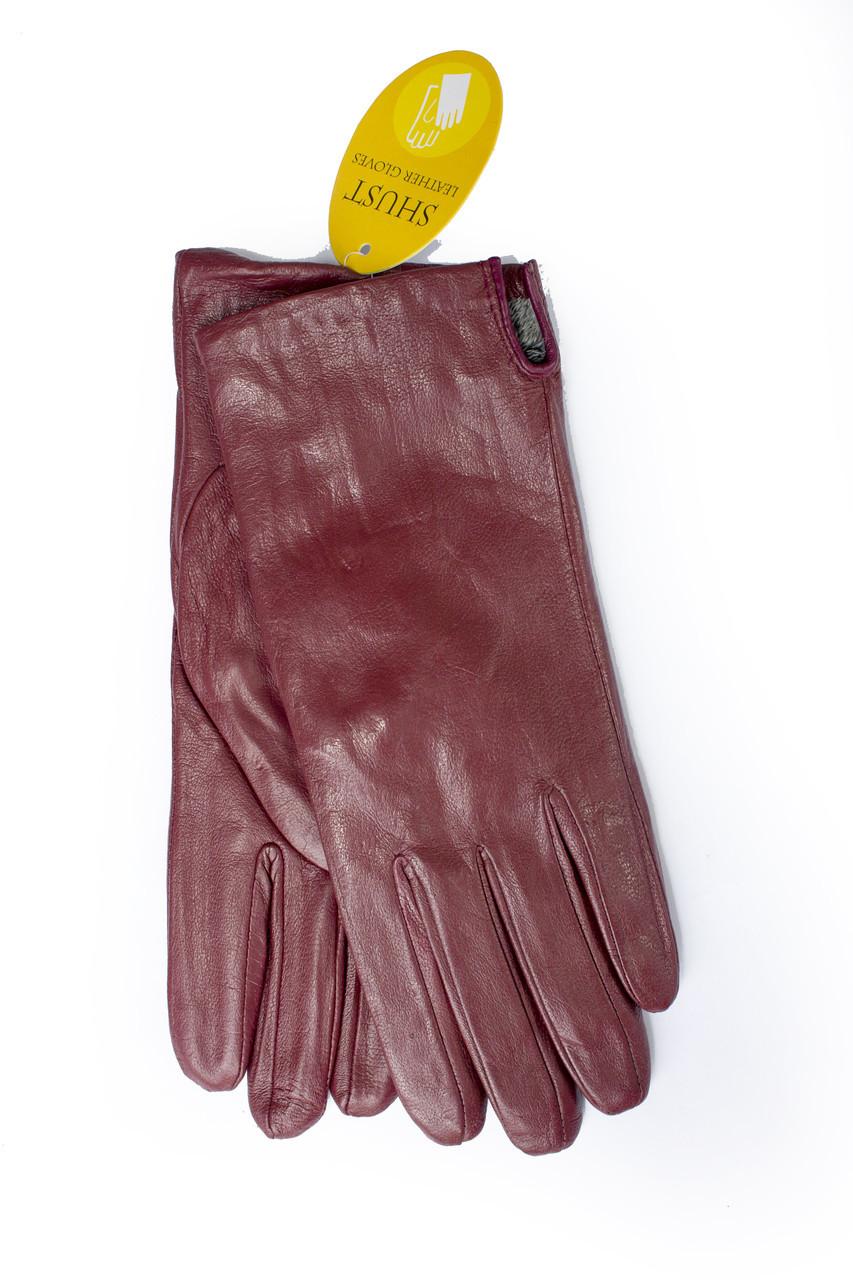 Женские бордовые перчатки 409s3 Большие