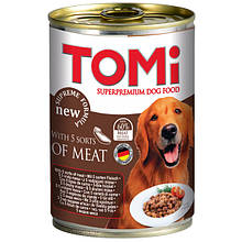 Консерви для собак 5 видів м'яса Томі TOMi 5 kinds of meat 400 г
