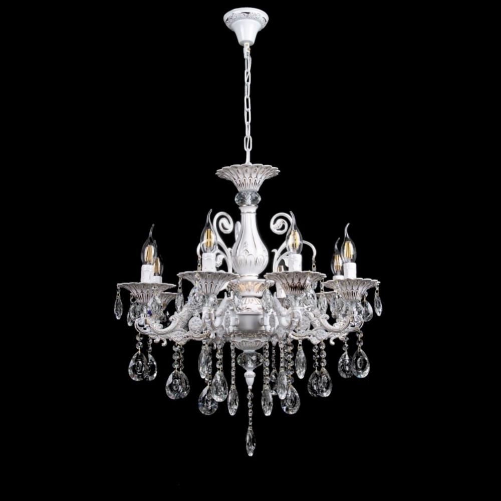 Класична люстра-свічка на 8 лампочок СветМира VL-3388/8 (FGW)