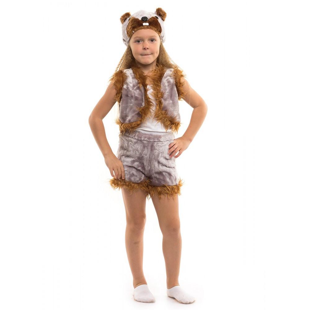 Карнавальный костюм Бобра для детей возрастом от 3 до 7 лет