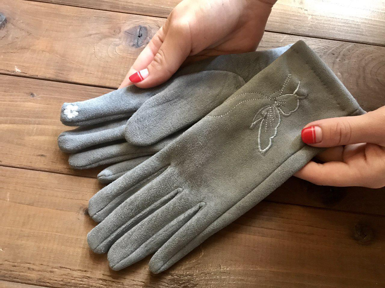 Женские замшевые СЕНСОРНЫЕ перчатки Маленькие