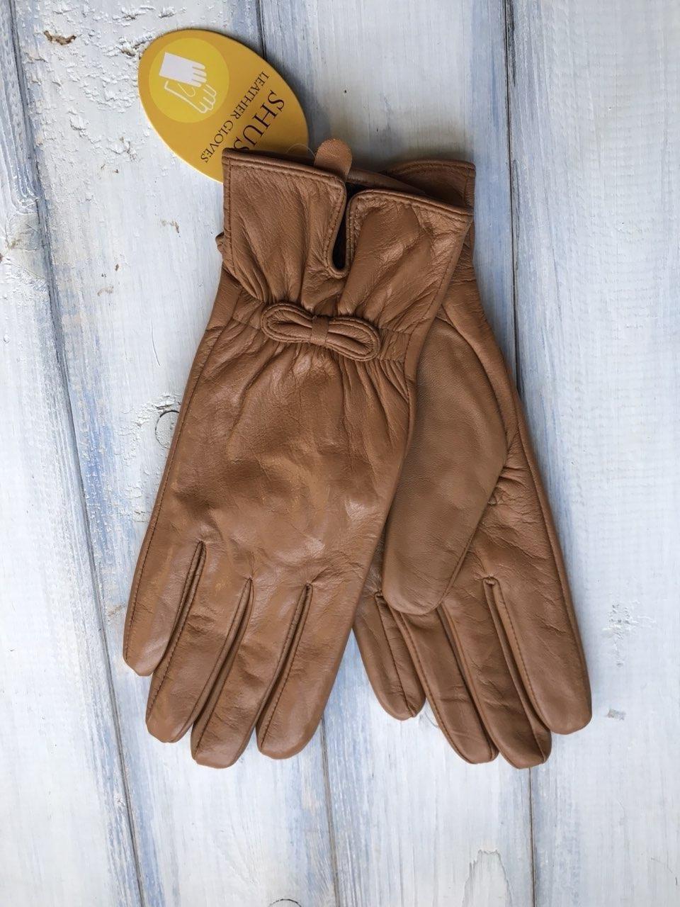 Женские кожаные перчатки Большие  813s3