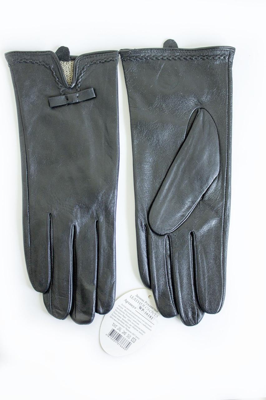 Женские кожаные перчатки Кролик Сенсорные Большые 2-339