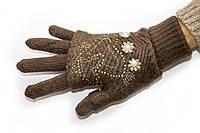 Вязаные перчатки Коричневые, фото 1
