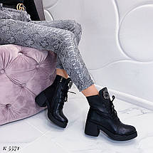 Ботинки кожа на шнурках, фото 2