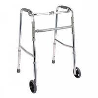 Ходунки, шагающие, складные, с колесиками (PR-441)